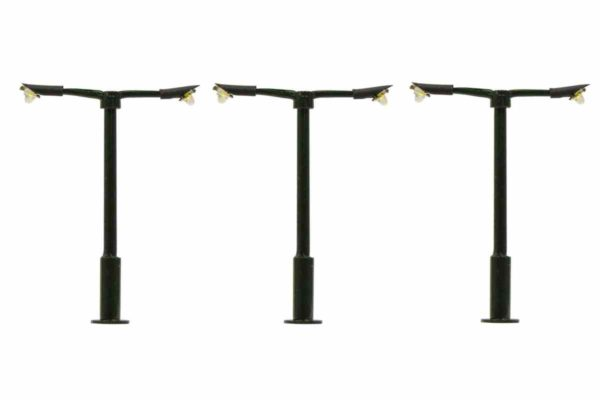 00 Gauge Modern Straight Double Arm Street Light