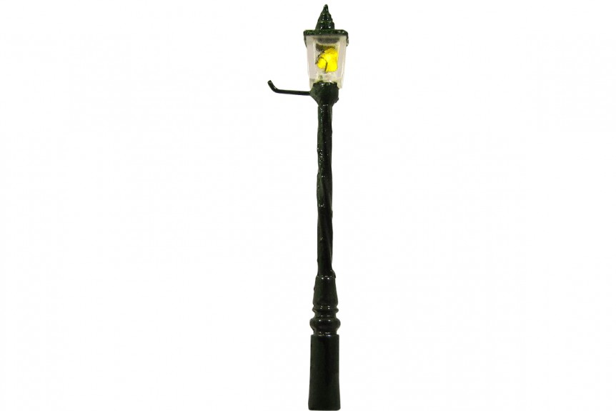 00 Gauge 1900s Gas Square Lens Fluted Street Lamp