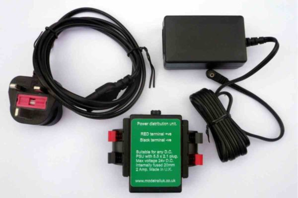 Cased 12v D.C Power Supply with 2 Amp Output