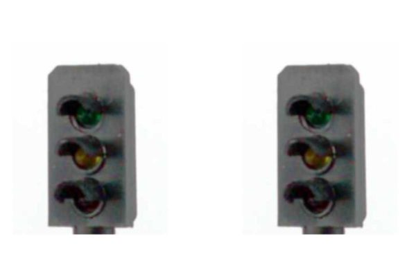 00 Gauge Model Railway Head Only Three Aspect Colour Light Signal