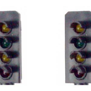 00 Gauge Model Railway Head Only Four Aspect Colour Light Signal