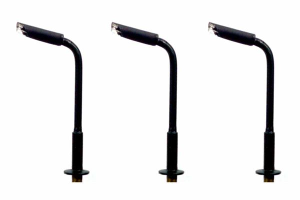 N Gauge Modern Small Curved Arm Street and Station Lamp