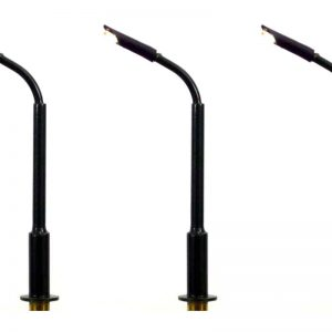N Gauge Modern Tall Curved Arm Street and Station Lamp