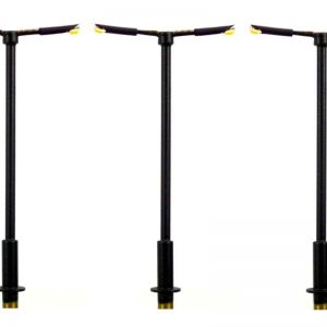 00 Gauge Model Railway Modern Tall Straight Double Arm Street or Station Lamp