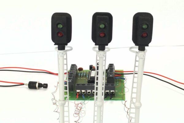 0 Gauge Model Railway Two Aspect Block Signaling Pack
