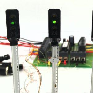 00 Gauge Model Railway Four Aspect Block Signaling Pack