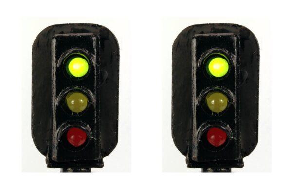 0 Gauge Model Railway Head Only Three Aspect Colour Light Signal