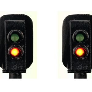 0 Gauge Model Railway Head Only Two Aspect Colour Light Signal (R/G)