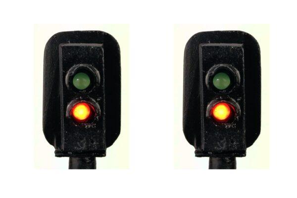 0 Gauge Model Railway Head Only Two Aspect Colour Light Signal (R/G)