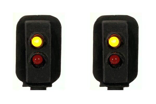 0 Gauge Model Railway Head Only Two Aspect Colour Light Signal (R/Y)